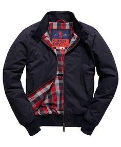 Superdry Longhorn Harrington Jacket Navy (Medium)