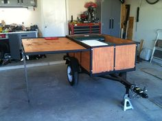 Mini Harbor Freight (type) Trailer Ultimate Build-Up Thread - Page 18 - JeepForum.com | Camping: DIY Trailer Ideas | Pinterest | Stove, Both sides and Cool ...