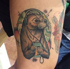 Sweet otter walkman tat