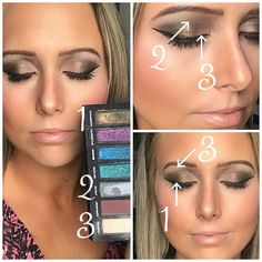 Enthusiastic from the Anniversary Limited Edition Eye Shadow Palette by Younique is gorgeous! All Younique products were used to create this look. Makeup Tips, Beauty Makeup, Eye Makeup, Makeup Ideas, Eye Tricks, Look 2015, Younique Presenter, Beauty Hacks Video, Beauty Tips