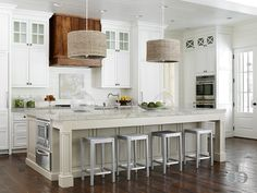 Island with Warming Drawer - Transitional - Kitchen