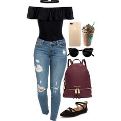 A fashion look from September 2016 featuring Sans Souci, Head Over Heels flats and Michael Kors backpacks. Browse and shop related looks.