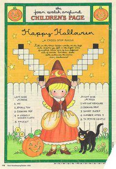 Joan Walsh Anglund Halloween paper doll craft page Halloween Doodle, Halloween Books, Halloween Pictures, Holidays Halloween, Spooky Halloween, Vintage Halloween, Halloween Crafts, Halloween Ideas, Paper Halloween
