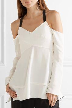 243ac650e6088a Proenza Schouler - Cold-shoulder crepe top