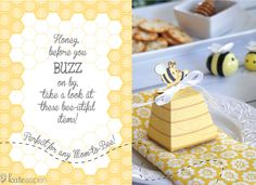 Favor Friday: Sweet As Can Bee Baby Shower - Kate Aspen Blog