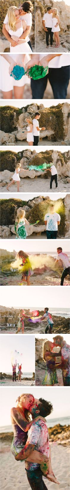 Paint fight engagement shoot. Need I say more?!?!
