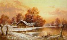 Chaloupka v zimní krajině 2