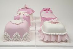mini pink and white cakes by www.fortheloveofcake.ca, via Flickr