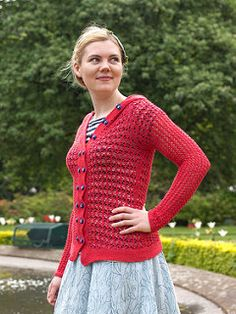 Laika  by Ysolda Teague - airy cardigan for warmer weather in fingering weight yarn.