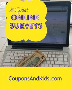 8 great surveys for earning extra money from CouponsAndKids.com
