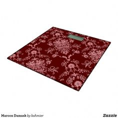 Shop Maroon Damask Bathroom Scale created by kahmier. Minimalist Bathroom Design, Bathroom Design Small, Damask Bathroom, Industrial, Personalized Gifts, I Shop, Scale, Bed, Small Spaces