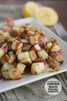 Lemon Herb Roasted Potatoes {Taste and Tell Thursdays} - Taste and Tell