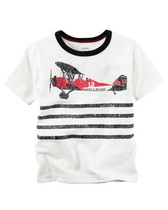Toddler Boy Airplane Graphic Tee | Carters.com
