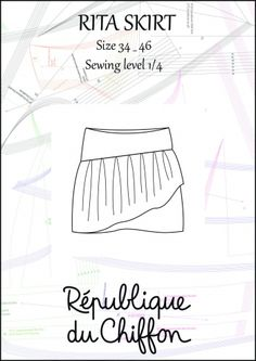 RITA Skirt sewing pattern by Republique du Chiffon $10.00 for PDF Download