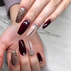 1622 Likes 6 Kommentare - Priscilla Ono Nail Art ( auf In . Glam Nails, Beauty Nails, Cute Nails, Maroon Nails, Burgundy Nails, Perfect Nails, Gorgeous Nails, Hello Gorgeous, Stylish Nails