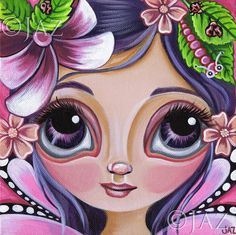 ART PRINT  Boysenberry Fairy  by Jaz Higgins 8x8 by artbyjaz, $11.50