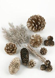 i heart pinecones, especially sparkly ones