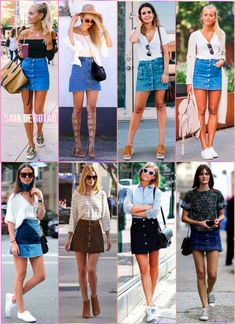 Understand the best ways to display pair of jeans gown clothes for almost every time. Denim Skirt Outfits, Outfit Jeans, Denim Skirt Outfit Summer, Button Down Skirt Outfit, Outfits With Jean Skirt, Spring Outfits, Trendy Outfits, Casual Church Outfits, Chic Outfits