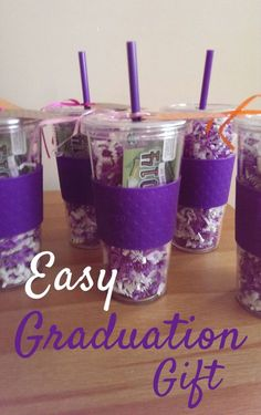 Easy Graduation Gift - Mandy Living Life gifts for fellow class mates Cheap Graduation Gifts, Graduation Gifts For Friends, High School Graduation Gifts, Graduation Presents, Graduation Diy, College Gifts, Graduation Gift Baskets, Graduation Decorations, Guy Graduation Party Ideas