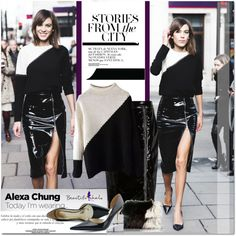 Inspiration Alexa Chung by never-alone on Polyvore featuring Christopher Kane, River Island and Sinclair