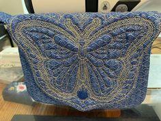 Machine Applique, Machine Embroidery Designs, Pouch, Butterfly, Throw Pillows, Bags, Handbags, Toss Pillows, Cushions