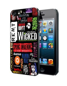 Broadway Musical Collage iPhone 4 4S 5 5S 5C Case