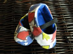 Colorful Mondrian inspired baby booties unique baby by bootki