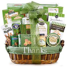 "World Of Thanks Gift Basket. Show how much you really appreciate someone's hard work and support with this ""World of Thanks Gift Basket""."