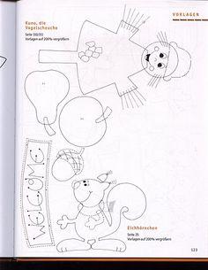 Topp - Herbstzeit-bastelzeit / Őszi ablakképek és kreatív ötletek Fall Crafts For Kids, Diy And Crafts, Paper Crafts, Felt Templates, Halloween Coloring Pages, Fall Door, Art Plastique, Baby Quilts, Projects To Try