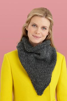A Knit Buttoned Bandanna Cowl is cool new take on a regular cowl.  Try something different.