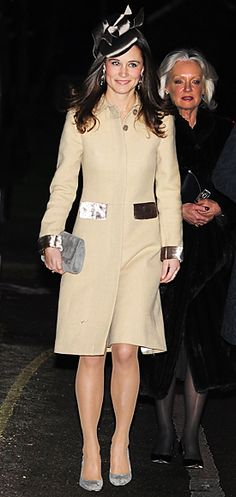 Pippa Middleton's Style  December 10, 2011  Pippa Middleton stepped out for a wedding in Suffolk, England in a cream Katherine Hooker coat, metallic fascinator and suede pumps.