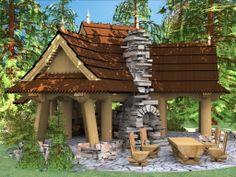 of wood Gazebo, Pergola, Wooden Arbor, Arbors, Outdoor Structures, Kiosk, Pergolas, Pavilion, Facade
