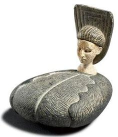 Bactria-Margiana (present day Turkmenistan or Afghanistan), Idol, chlorite/steatite, c. Great idea for ceramic sculpture Art Sculpture, Sculptures, Ancient History, Art History, Objets Antiques, Bronze Age Civilization, Ancient Goddesses, Art Antique, Art Premier