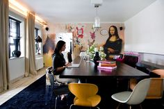 dunny mona lisa wall. i think katrina malmstrom is my new favorite interior designer