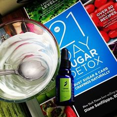On the 21 Day Sugar Detox?  Quick treat!  1 can full fat coconut milk, 5 drops pure Lemon essential oil, pulse in blender.  Pour in 3 glasses, refrigerate!  YUM  #21dsd #eolife
