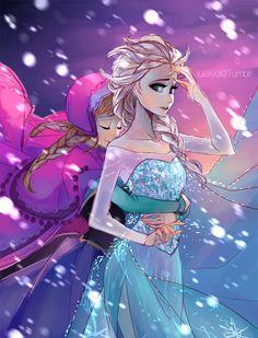 Frozen - Queen Elsa x Princess Anna - Elsanna Anna Frozen, Anna Y Elsa, Frozen Fan Art, Frozen Movie, Disney Frozen, Frozen Stuff, Frozen Queen, Arte Disney, Disney Fan Art