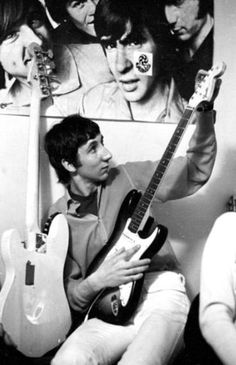 Pete Townshend love the Monkees poster behind Pete!