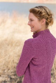 Knitting Daily.  'Plum Island' design  by Alison Green and worked in a worsted weight from Imperial Yarns ..... http://www.ravelry.com/patterns/library/plum-island-pullover