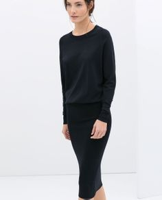 ZARA - NEW THIS WEEK - DRESS WITH PENCIL SKIRT