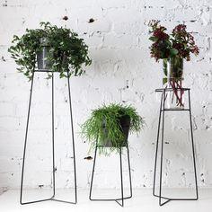 Pot Plant Stands Black - Trestle Union – Tessuti