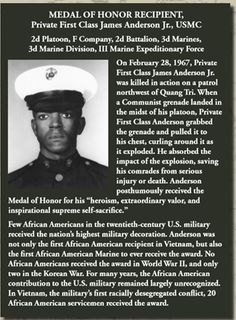 When I was a kid in the Marines, I remember the first place I saw the WHITE ONLY, COLORED ONLY signs. They were on the wall in this train station in Rocky Mountain, North Carolina. Marine Corps Uniforms, Us Marine Corps, James Anderson, Medal Of Honor Recipients, Killed In Action, Black History Facts, Marines, Usmc, Navy Seals