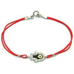 hamsa hand enameled evil eye bracelet