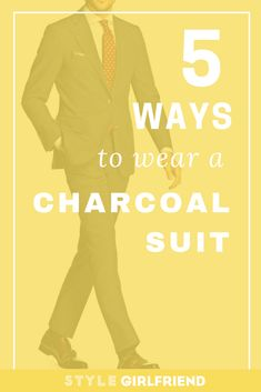 A charcoal suit is a men's style essential. Discover everything you need to know about this wardrobe staple from the team at Style Girlfriend. Mens Charcoal Suit, Grey Suit Men, Gray Suits, Mens Suits, Grey Fashion, Suit Fashion, Suit Supply, Designer Suits For Men, Men Style Tips