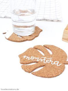 DIY Monstera Kork Untersetzer | DIY Monstera Cork Coaster