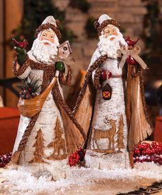 Another great find on #zulily! Birch Santa Statue Set #zulilyfinds