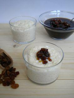 Pudding de arroz y salsa de pasas al ron http://lacocinamagicademanu.blogspot.com.es/2014/02/pudding-de-arroz-y-salsa-de-pasas-al-ron.html