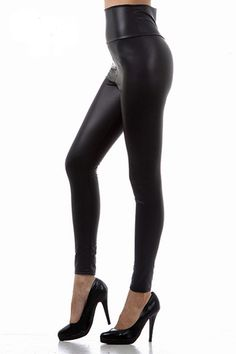 591a4987ae5 High Waisted Faux Leather leggings -  28.00 at WorldofLeggings.com -   WorldofLeggings