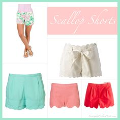 Scallop Shorts! love the colors and details!