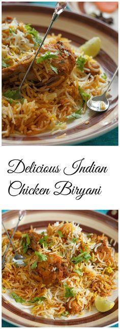 Indian Chicken Biryani Recipe-Recipe for Chicken Biryani - Recipes Spicy Recipes, Indian Food Recipes, Asian Recipes, Cooking Recipes, Vegetarian Recipes, Indian Chicken Recipes, Cooking Videos, Fish Recipes, Chicken Tikka Masala Rezept
