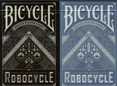 Robocycle Blue or Black Deck Bicycle Playing Cards Poker Size Limited Ed New | eBay